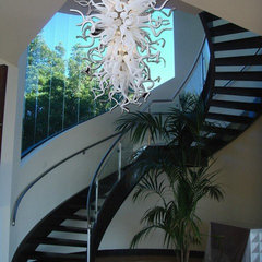 modern staircase by Italian Decor Glass Lights