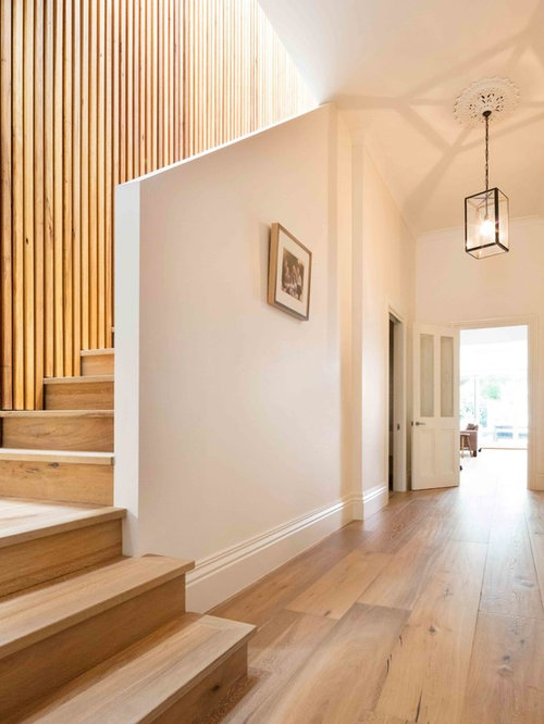 Inspiration For A Large Contemporary Wood L Shaped Staircase In Melbourne.