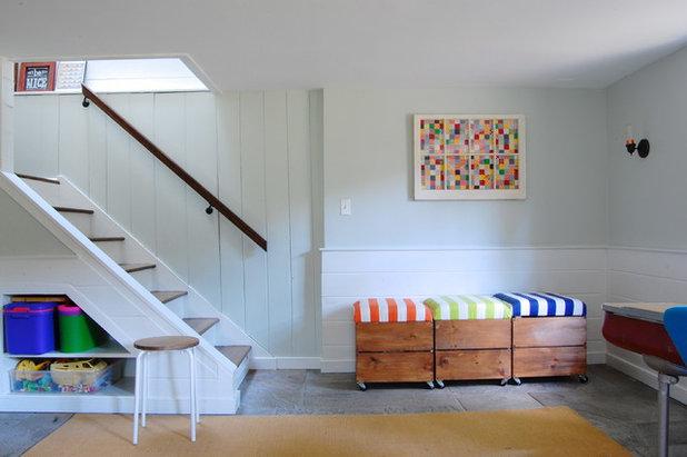 Farmhouse Staircase by Corynne Pless