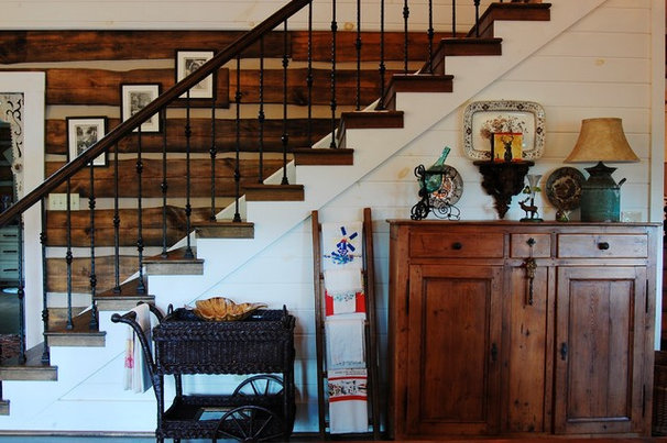 Rustic Staircase by Corynne Pless