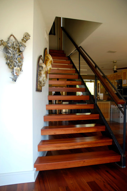 Contemporary Staircase by Kara Mosher