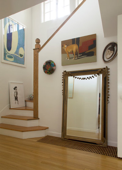 Eclectic Staircase by Margot Hartford Photography