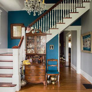 Bild på en eklektisk trappa
