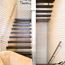 Contemporary Staircase by Cynthia Lynn Photography