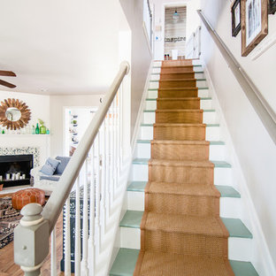 Staircase - cottage staircase idea in Louisville