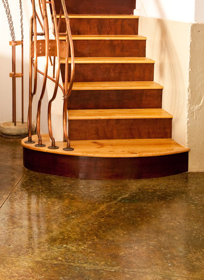 Contemporary Staircase by Mary Prince Photography