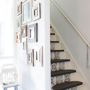 Design ideas for a shabby-chic style staircase in Amsterdam.