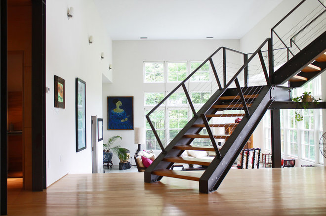 Contemporary Staircase by Laura Garner
