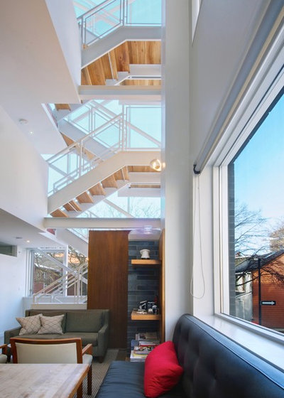 Tower Modern Staircase : My houzz a tower home rises in downtown toronto