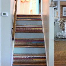 Farmhouse Staircase by Sara Bates