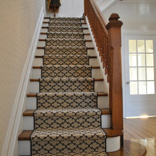 Traditional Staircase by Morisset Design