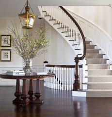 traditional staircase by Jeannie Balsam LLC
