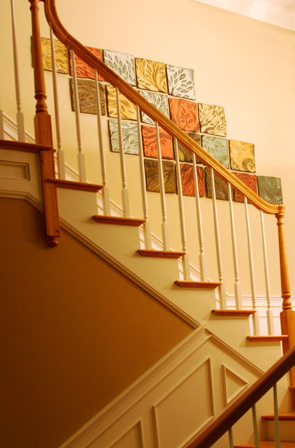 traditional staircase by Natalie Blake