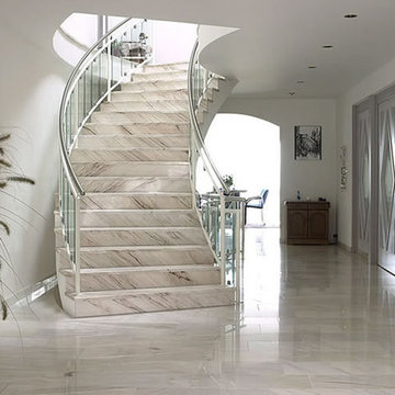 Natural Stone Ideas_Palissandro Marble Stairway