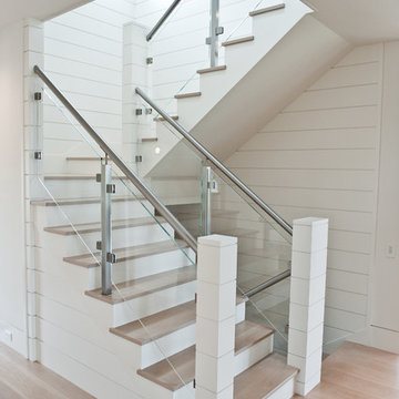 Nautical Staircase with Glass Railing