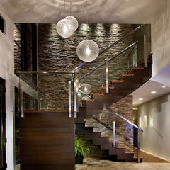 modern staircase by Storch Entertainment Systems