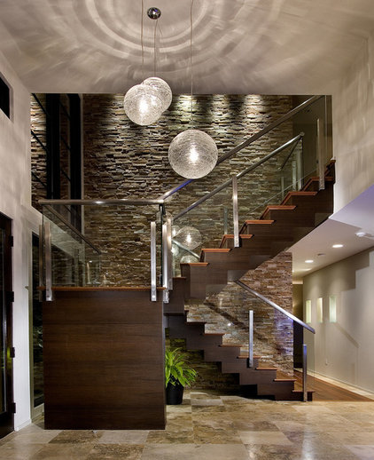 Contemporary Staircase by Storch Entertainment Systems