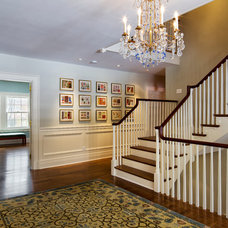 Traditional Staircase by Knight Architects LLC
