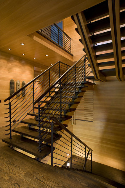 Transitional Staircase by Carlton Architecture