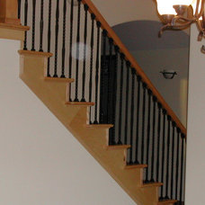 Traditional Staircase by Alante Custom Design
