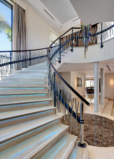Contemporary Staircase by Carolyn Parker Interior Design Ltd.