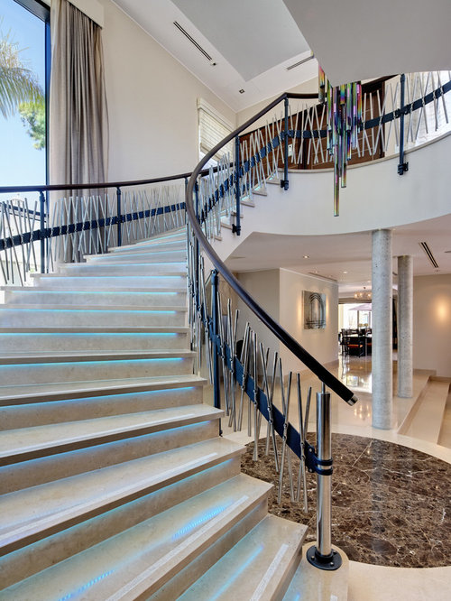 Cheap staircase houzz - Modern interior design with spiral stairs contemporary spiral staircase design ...