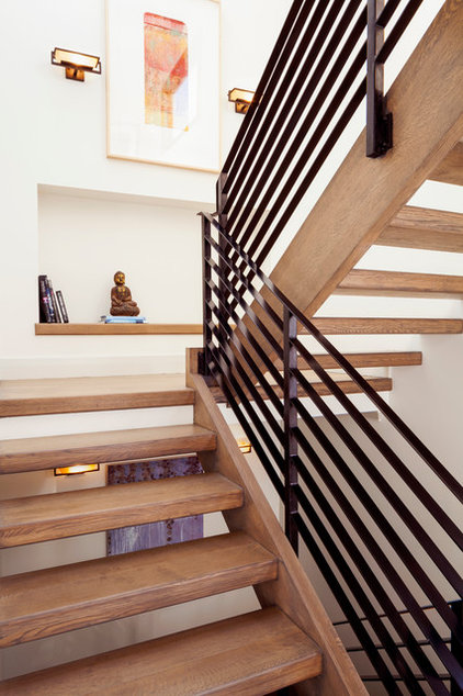 Contemporary Staircase by SAZEN DESIGN LLC