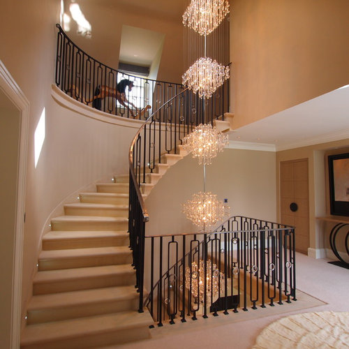 Basement Stairs Design: Open Basement Stair Home Design Ideas, Pictures, Remodel