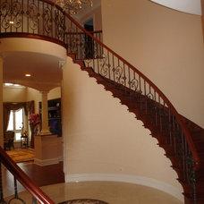 Mediterranean Staircase by Durrett Design Inc.