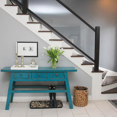 Eclectic Staircase by Fine Interiors