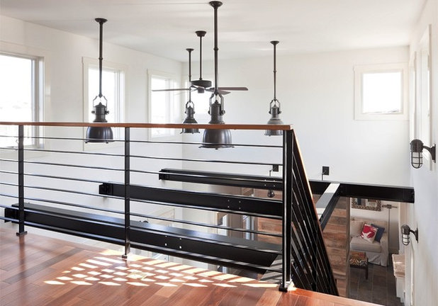 Industrial Staircase by Richard Bubnowski Design LLC