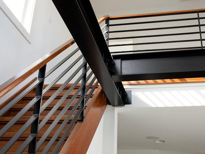 Contemporary Staircase by Richard Bubnowski Design LLC
