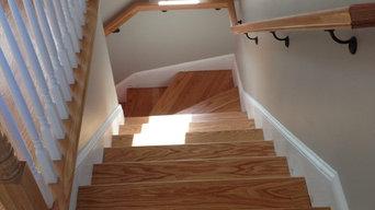 New Oak stair treads , balusters and oak railings