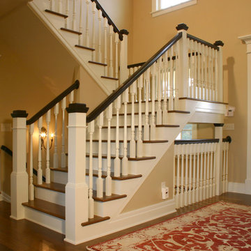 New Old Farmhouse: Stairwell and Front Entry