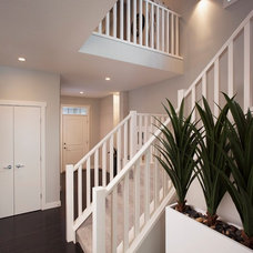Contemporary Staircase by Sabal Homes