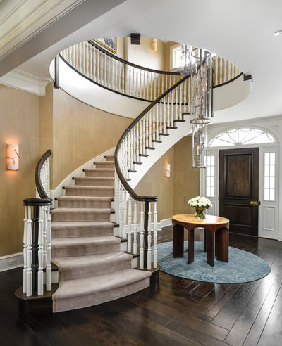 Traditional Staircase by Morgante Wilson Architects