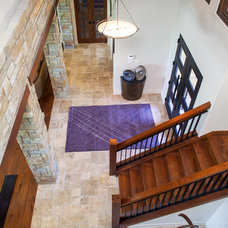 Transitional Staircase by Dawn Hearn Interior Design
