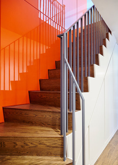Modern Staircase by Lauren Rubin Architecture