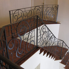 Mediterranean Staircase by Spirit Ironworks
