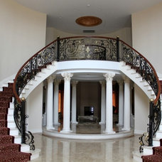 Traditional Staircase by HMH Iron Design