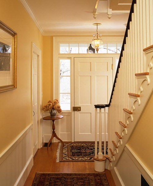 Beautiful Front Hall And Staircase: Colonial Foyer Ideas, Pictures, Remodel And Decor