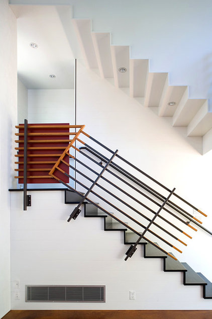 modern staircase by Tom Hurt Architecture