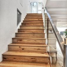 Contemporary Staircase Newport Beach House Renovation
