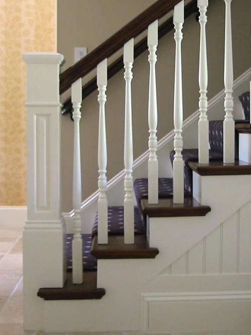 Amazing Inspiration For A Mid Sized Timeless Wooden U Shaped Wood Railing Staircase  Remodel In
