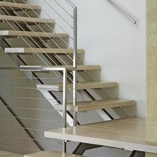Contemporary Staircase by Denali Construction
