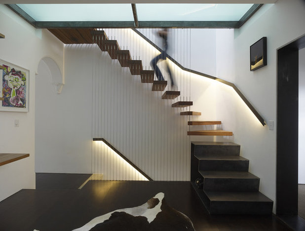 Contemporary Staircase by Sam Crawford Architects