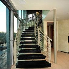 Modern Staircase by Maienza - Wilson Interior Design + Architecture