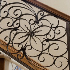 Mediterranean Staircase by Christopher Lee & Company Fine Homes