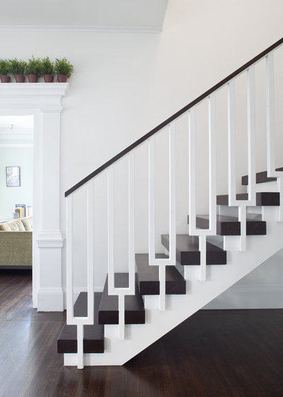 Transitional Staircase by Jeff King & Company
