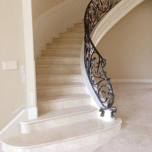 Noel's Fine Floors  Custom  marble stairs   24 x 24 marble